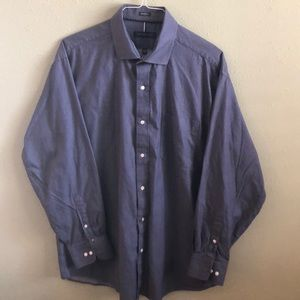 Tommy Hilfiger Blue herringbone dress shirt.